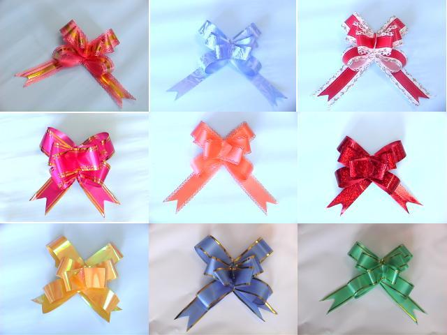 Как сделать банты из подарочных лент